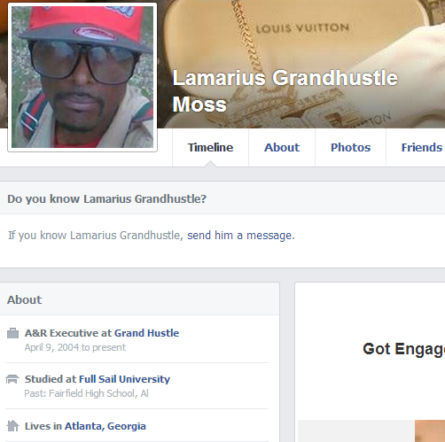 Lamarius Moss Fake Grand Hustle Facebook