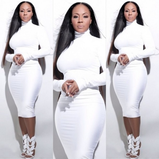 Erica Campbell White Dress