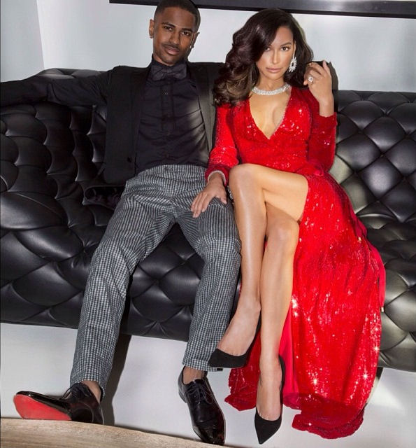 Naya-Rivera-Big-Sean-christmas-card