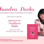 "EVENT: @PhaedraParks' ""Secrets of the Southern Belle"" Book Signing at Georgia Tech's Barnes & Noble!"