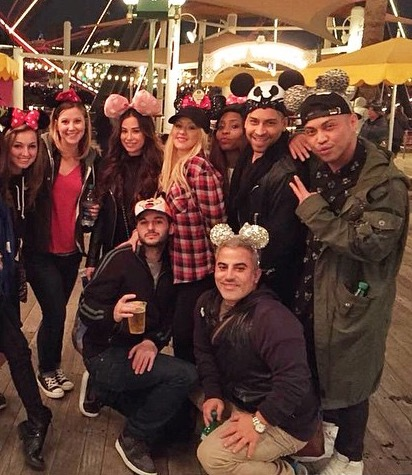 Christina Aguilera in Disney Land