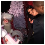 North West Still Trying To Establish Trust With Santa Clause.