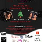 Manny Halley Presents Philippe Chow Christmas Toy Drive with Gloria, Laura Govan