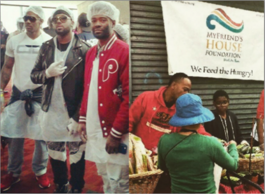 Nikko, Young King Tutt, Producer Bangladesh #HoseaFeedTheHungry Atlanta - Columbus Short #WeFeedTheHungry (Los Angeles)