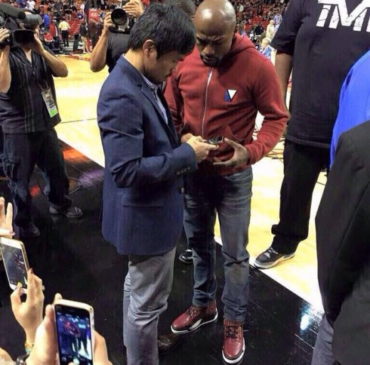 Manny Pacquiao and Floyd Mayweather meet