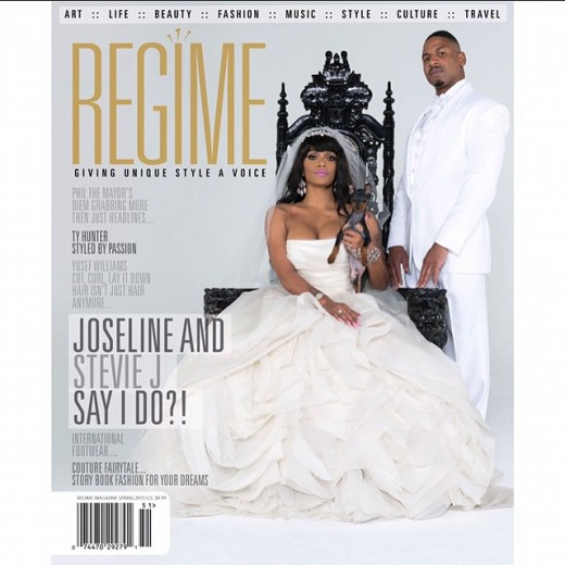 Stevie J Joseline Regime Magazine Wedding COver