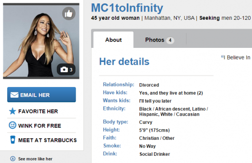 Mariah Carey Match Profile