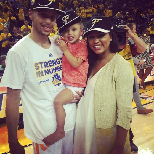 Stephen Curry Riley and Wife