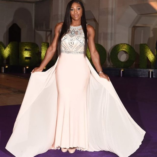 Serena williams pink dress 2