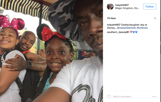 Ceasar & his daughter & his tattoo artist (sex offender) known as Trap Photo Credit @holyshit407