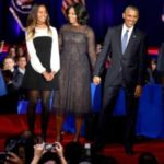 Where Was Sasha Obama During Father's Farewell Speech