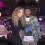 Mariah Carey Seen in The Studio With Usher