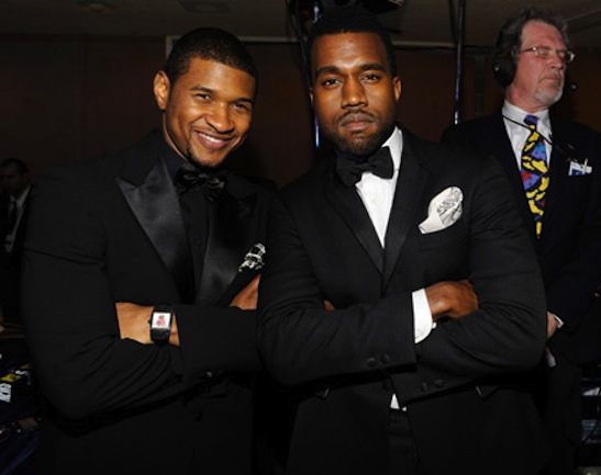 """Usher and Kanye West at MTV and ServiceNation's """"Be the Change:"""