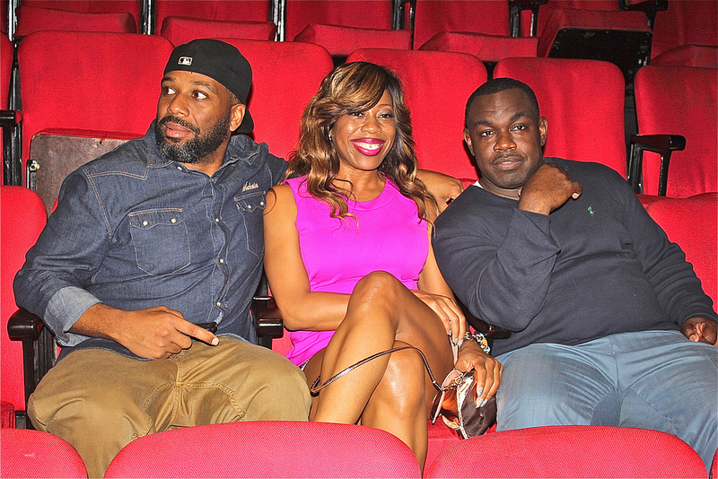 Comedic Joe Clair and female comedian Quiana Dancie stopped by to show support