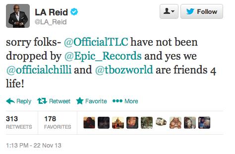 LA Reid Tweet