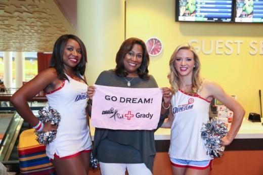 Karyn Greer and WNBA Atlanta Dream Cheerleaders_T4-ATL
