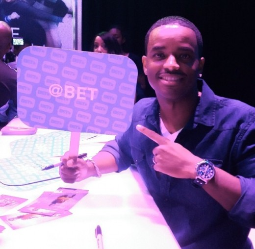Actor Larenz Tate spotted at the BET Experience