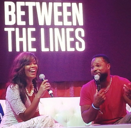 Malcolm Jamal Warner sits down with Julie Smith in the BET Networks Pavillion