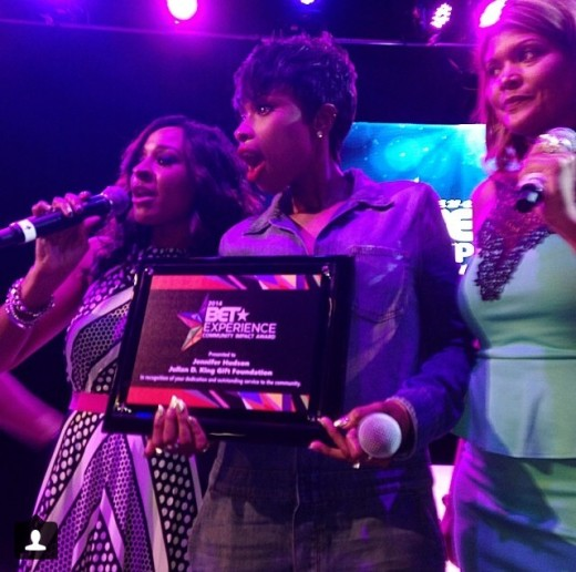 Jennifer Hudson receives the first ever BET Experience Community Impact Award