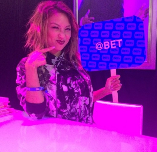 Jeannie Mai living it up in the #BETNLounge