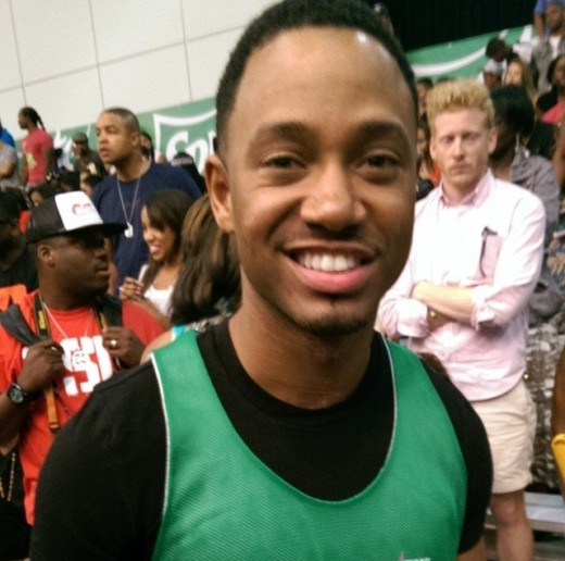 Terrence J is all smiles after BETXCelebBball Game powered by Sprite