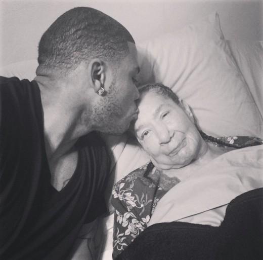 Nelly and his grandma