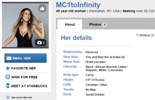 Mariah Carey Match Profile