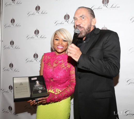 John Paul DeJoria gifts Gocha with a limited edition Gran Patron Platinum 3
