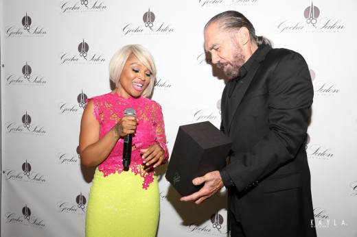 John Paul DeJoria gifts Gocha with a limited edition Gran Patron Platinum