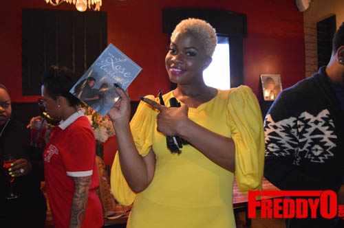 The lovely Christina Johnson was on hand to grab a copy and celebrate a gal pal's birthday too!